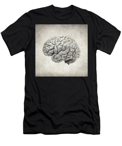 Brain Drawing Men's T-Shirt (Athletic Fit)