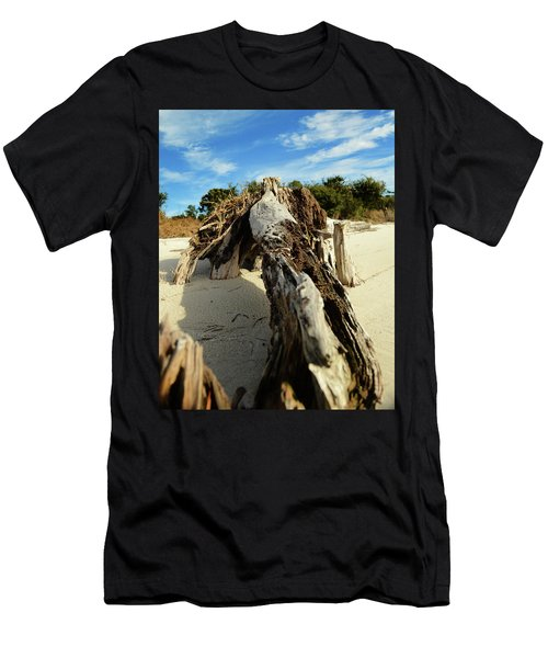 Branch On Beach Men's T-Shirt (Athletic Fit)