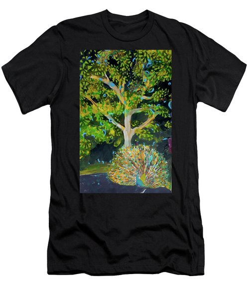 Branching Out Peacock Men's T-Shirt (Athletic Fit)