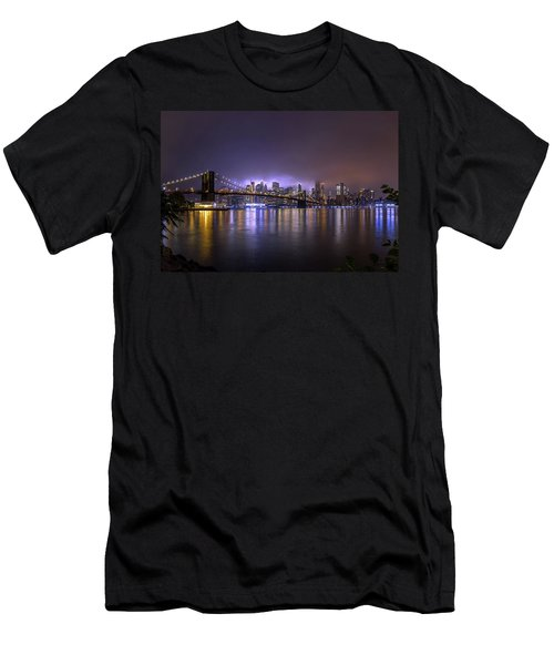 Bright Lights Of New York II Men's T-Shirt (Athletic Fit)