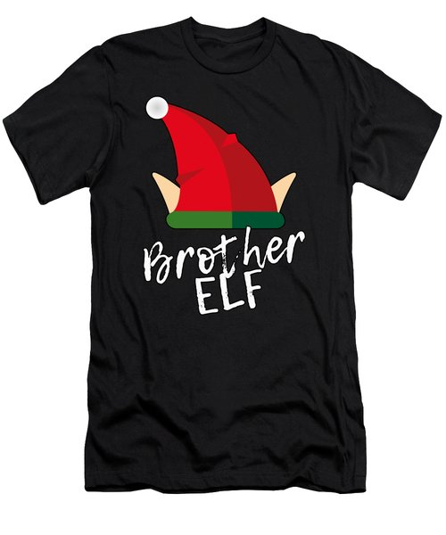 Men's T-Shirt (Athletic Fit) featuring the digital art Brother Elf Christmas Costume by Flippin Sweet Gear