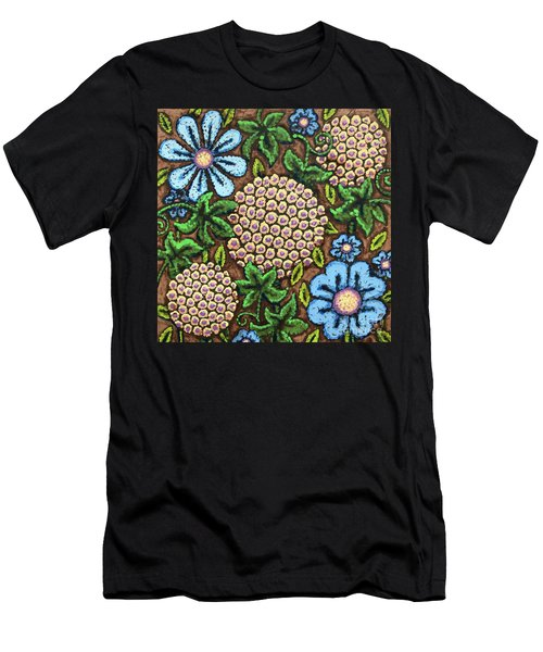 Brown And Blue Floral 3 Men's T-Shirt (Athletic Fit)