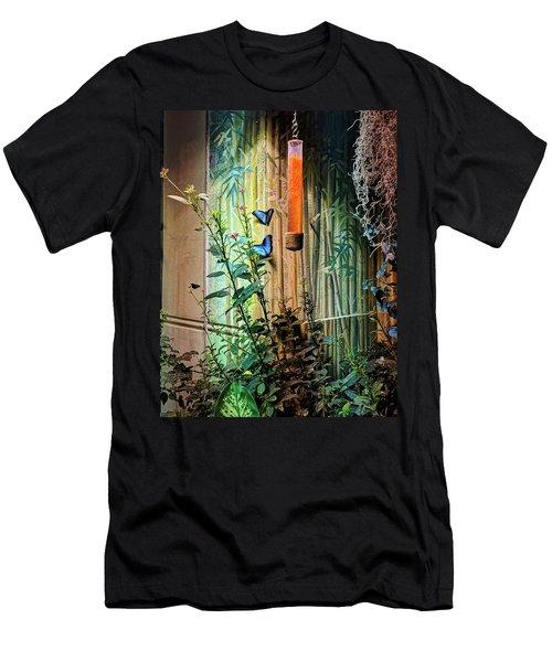 Butterfly Garden Men's T-Shirt (Athletic Fit)