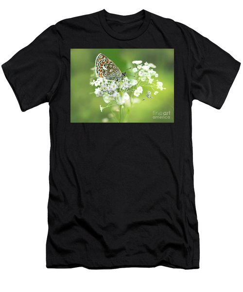 Butterfly On Babybreath Men's T-Shirt (Athletic Fit)