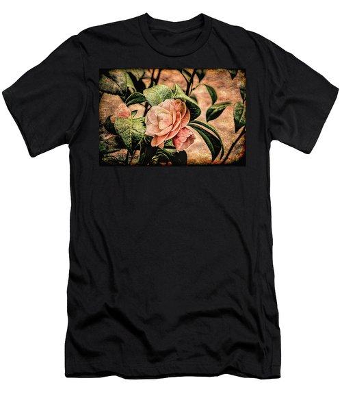 Camellia Grunge Men's T-Shirt (Athletic Fit)