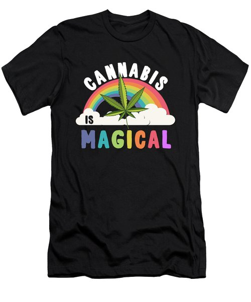 Cannabis Is Magical Weed 420 Men's T-Shirt (Athletic Fit)
