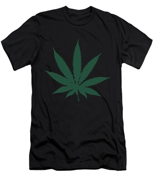 Cannabis Weed Marijuana Leaf Men's T-Shirt (Athletic Fit)