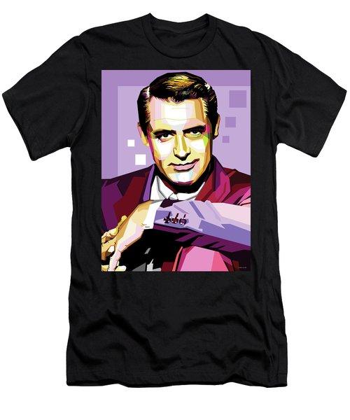 Cary Grant Pop Art Men's T-Shirt (Athletic Fit)