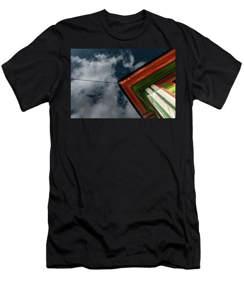 Men's T-Shirt (Athletic Fit) featuring the photograph Casa Esquinera Cafetera by Juan Contreras