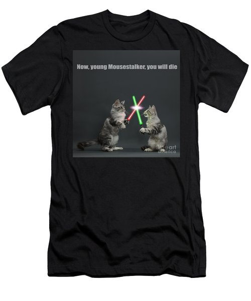 Men's T-Shirt (Athletic Fit) featuring the photograph Cat Wars by Warren Photographic