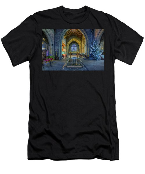 Cathedral At Christmas Men's T-Shirt (Athletic Fit)