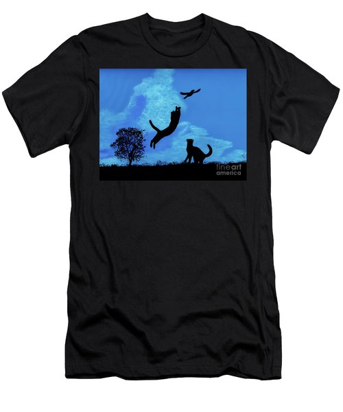 Cats -  Playing Men's T-Shirt (Athletic Fit)