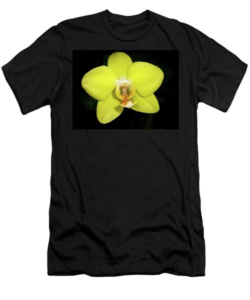 Caution Yellow Orchid Men's T-Shirt (Athletic Fit)