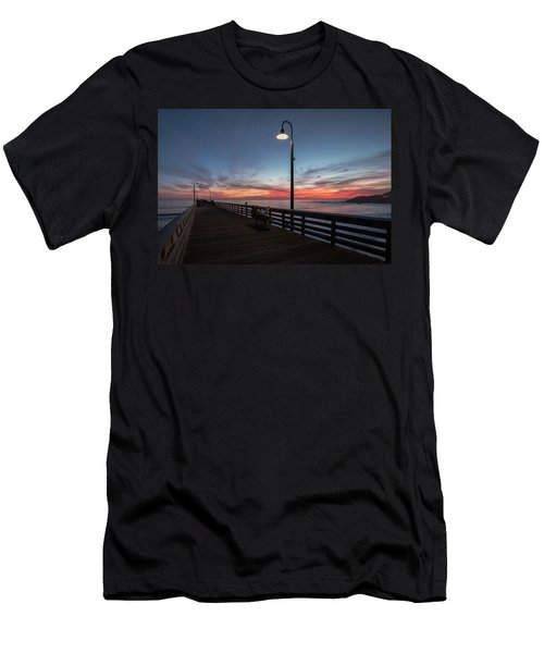 Cayucos Pier Sunset Men's T-Shirt (Athletic Fit)