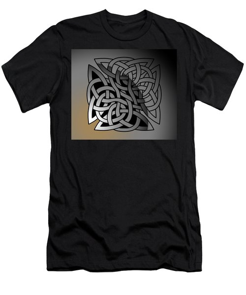 Men's T-Shirt (Athletic Fit) featuring the drawing Celtic Shield Knot 7 by Joan Stratton