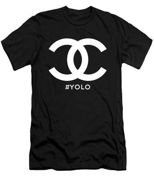 Chanel You Only Live Once Men's T-Shirt (Athletic Fit)