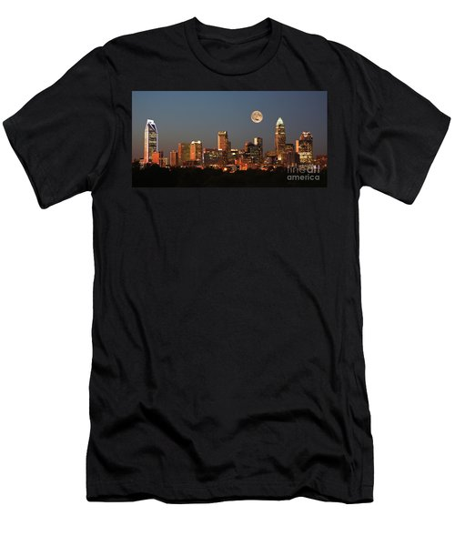 Charlotte City Skyline At Sunset Men's T-Shirt (Athletic Fit)