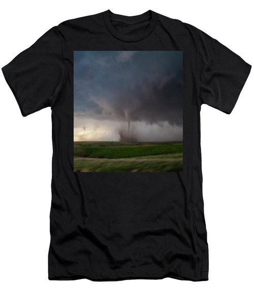 Men's T-Shirt (Athletic Fit) featuring the photograph Chasing Naders In Nebraska 026 by Dale Kaminski