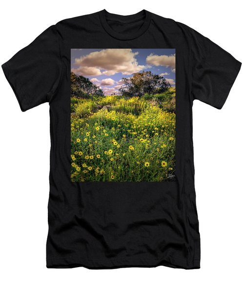 Chatsworth Wildflower Bloom Men's T-Shirt (Athletic Fit)
