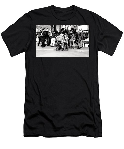Chess Match Union Square  Men's T-Shirt (Athletic Fit)