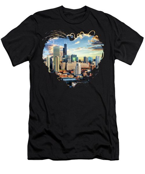 Chicago River North Men's T-Shirt (Athletic Fit)