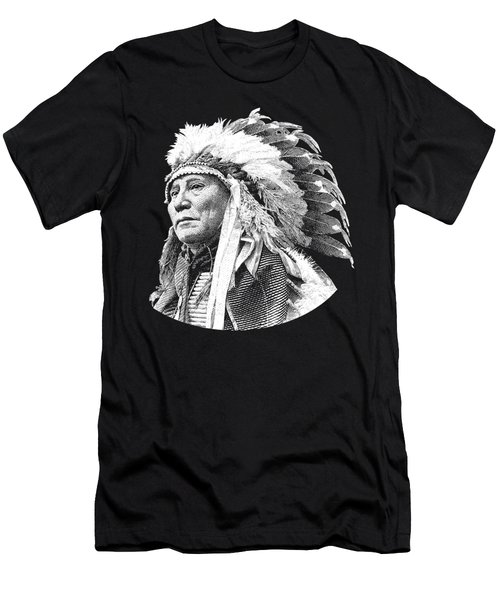 Chief Hollow Horn Bear Graphic Men's T-Shirt (Athletic Fit)