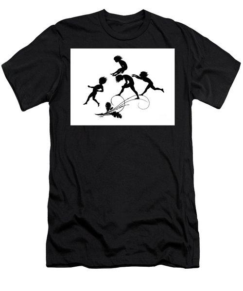 Children Playing Illustration For Gottliche Jugen Ein Tag Aus Dem Sonnenlande Men's T-Shirt (Athletic Fit)