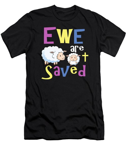 Christian Gifts For Kids Ewe Are Saved Men's T-Shirt (Athletic Fit)
