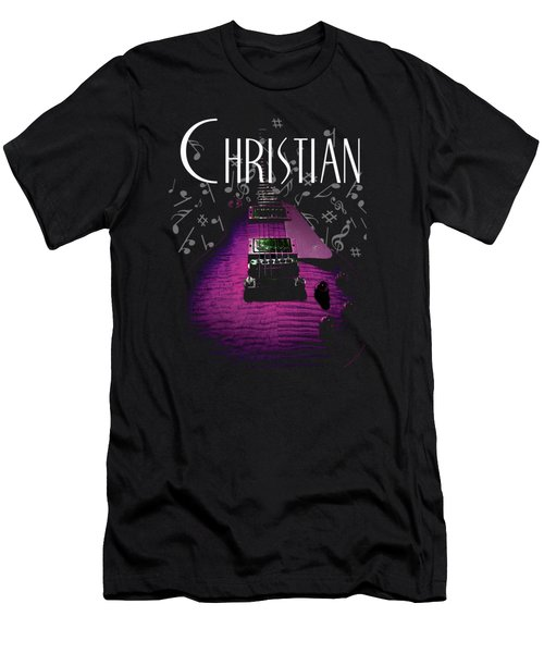 Christian Music Guita Men's T-Shirt (Athletic Fit)
