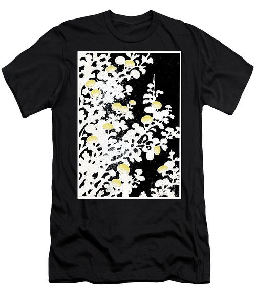 Chrysanthemum Flowers In White And Yellow Men's T-Shirt (Athletic Fit)