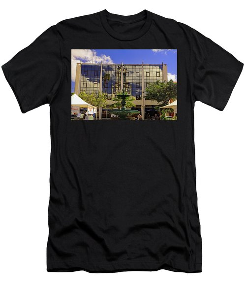 Men's T-Shirt (Athletic Fit) featuring the photograph Church Reflections by Tony Murtagh