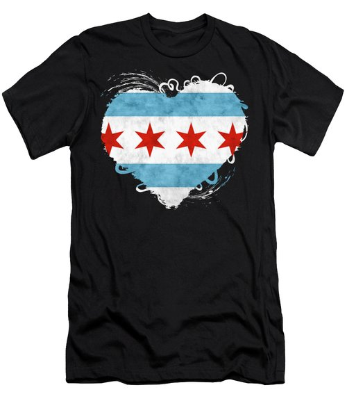 City Of Chicago Flag Men's T-Shirt (Athletic Fit)