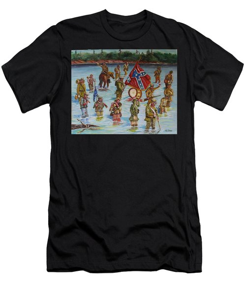 Civil War Battle, Spanish Fort, Spanish Fort,mobile Bay, Alabama Men's T-Shirt (Athletic Fit)