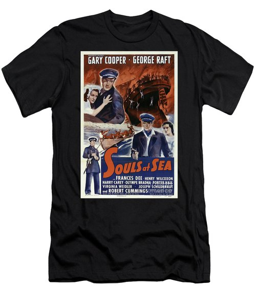 Classic Movie Poster - Souls At Sea Men's T-Shirt (Athletic Fit)