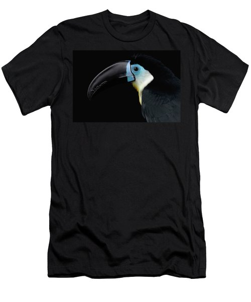 Close-up Channel-billed Toucan, Ramphastos Vitellinus, Isolated On Black Men's T-Shirt (Athletic Fit)