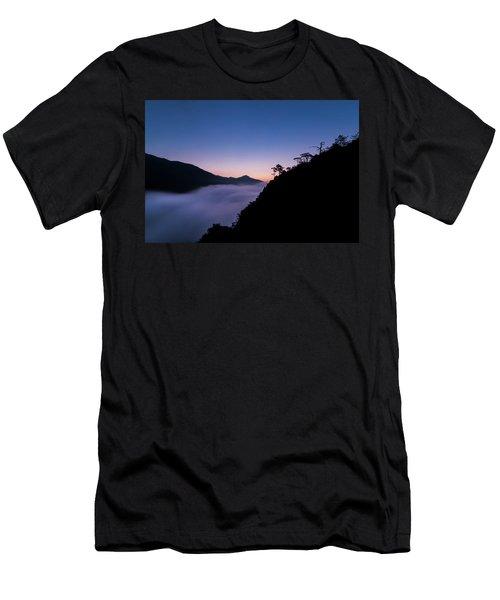 Cloud River Twilight Men's T-Shirt (Athletic Fit)