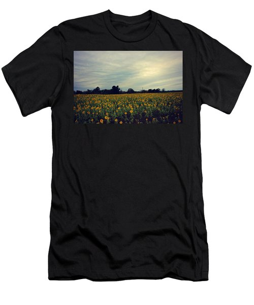 Cloudy Sunflowers Men's T-Shirt (Athletic Fit)