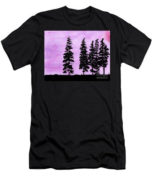 Colorful - Alaska - Sunset Men's T-Shirt (Athletic Fit)