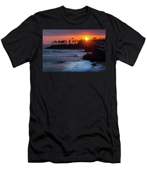 Colorful Laguna Beach Sunset Men's T-Shirt (Athletic Fit)