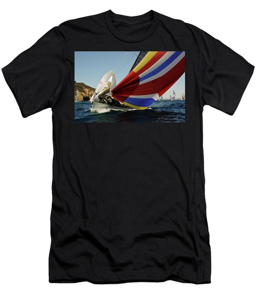 Colorful Spinnaker Run Men's T-Shirt (Athletic Fit)