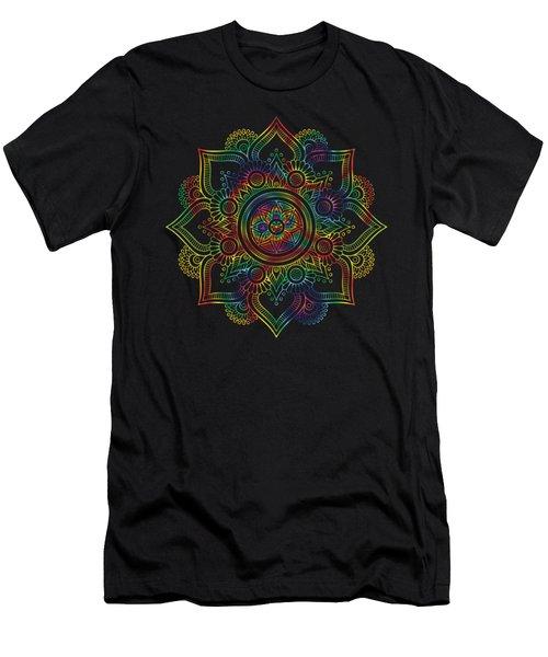 Colourful Rainbow Mandala Lavender Men's T-Shirt (Athletic Fit)