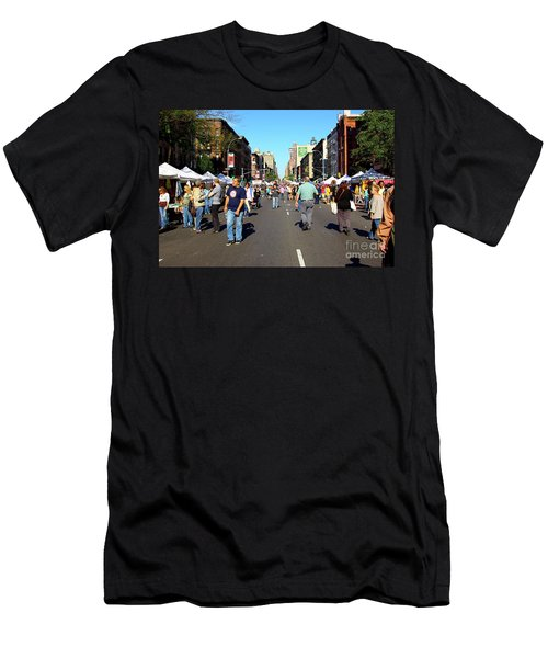 Columbus Day On Amsterdam Ave. Upper West Side, New York 2008 Men's T-Shirt (Athletic Fit)