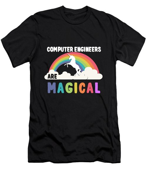 Men's T-Shirt (Athletic Fit) featuring the digital art Computer Engineers Are Magical by Flippin Sweet Gear