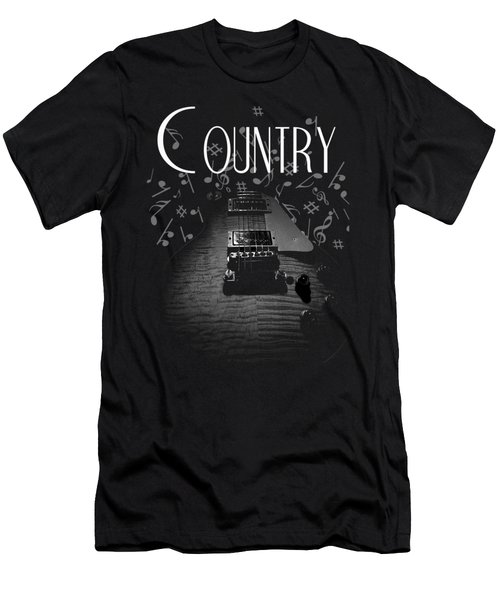 Country Music Guitar Music Men's T-Shirt (Athletic Fit)
