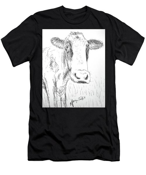 Cow Doodle Men's T-Shirt (Athletic Fit)