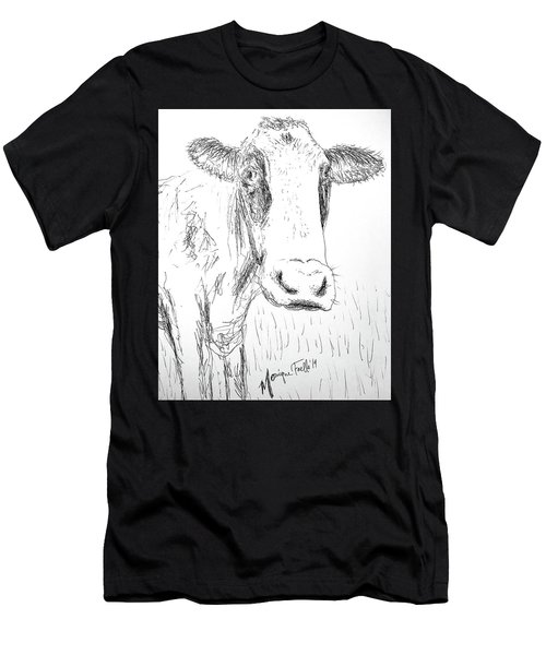 Cow Doodle Men's T-Shirt (Athletic Fit)