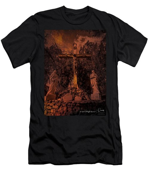 Crucifixion Of Christ By Richard Cuevas Men's T-Shirt (Athletic Fit)