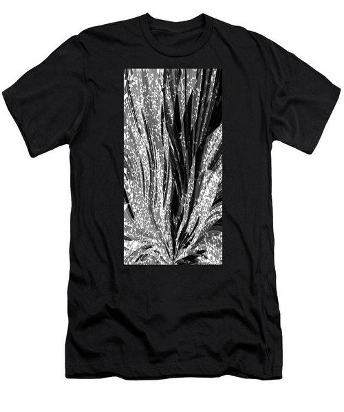 Crystal Floral Black Opposite Men's T-Shirt (Athletic Fit)