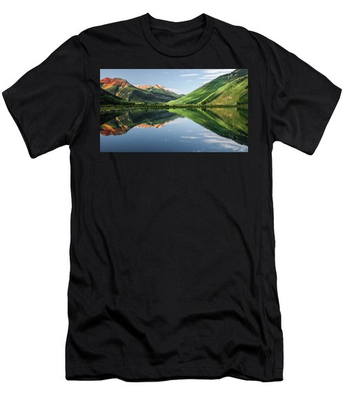 Crystal Lake Red Mountain Reflection Men's T-Shirt (Athletic Fit)