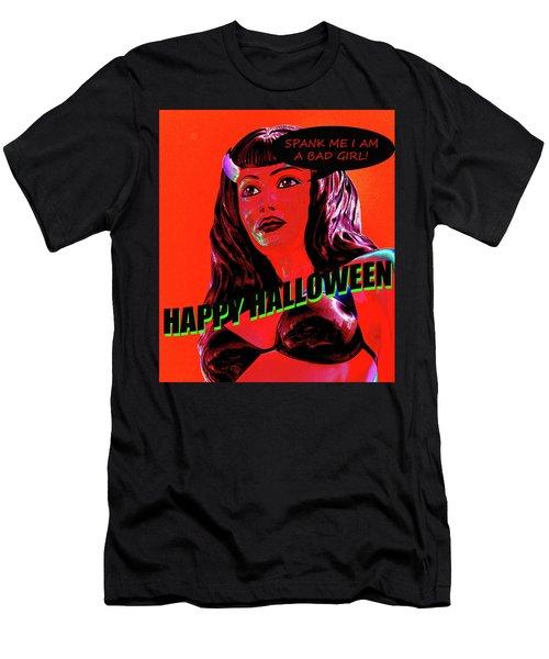 Custom Halloween Card She-devil Men's T-Shirt (Athletic Fit)